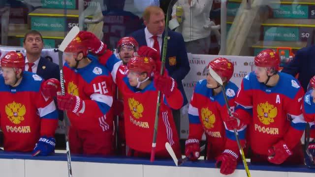 Что говорит Артемий Панарин во время игры Россия-Финляндия? Микрофон на игроке. КМ 2016