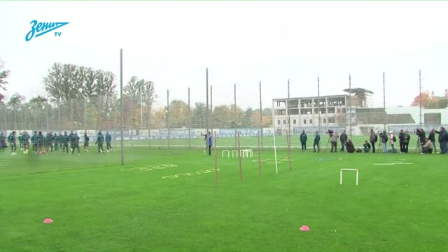 Открытая тренировка «Зенита» перед матчем с АЗ