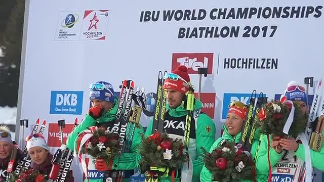 9 февраля на чемпионате мира по биатлону в Хохфильцене