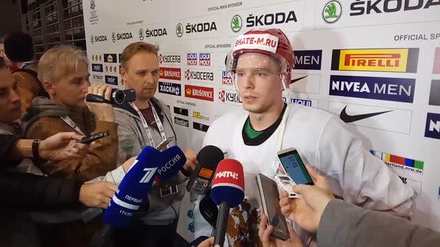 Евгений Кузнецов — о первой тренировке со сборной России на ЧМ-2017