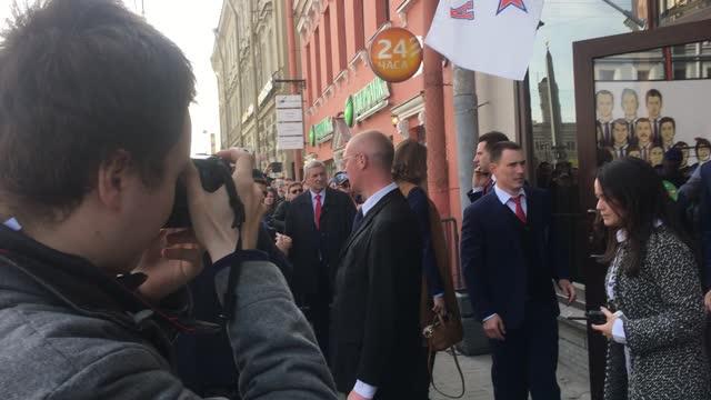Чемпионский парад СКА в Санкт-Петербурге
