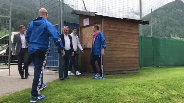 Мутко и Алаев приехали на тренировку сборной России в Австрии