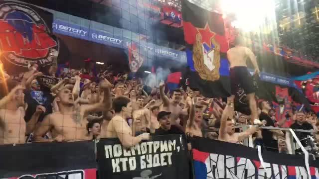 Фанаты ЦСКА празднуют два гола подряд. Вот это камбэк!