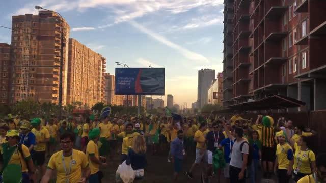 Шествие фанатов из Бразилии