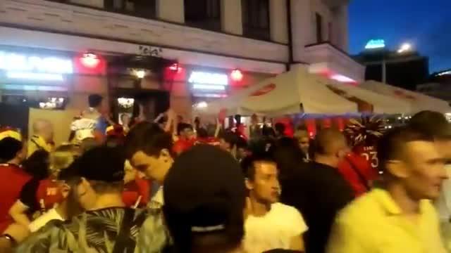 Бельгийцы празднуют победу