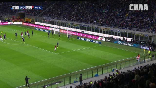 Незасчитанный гол Мусаккио («Милан»)