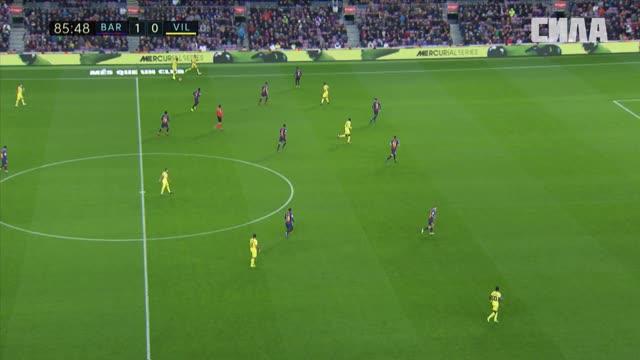2:0. Аленья («Барселона») удваивает преимущество