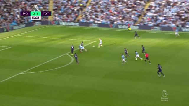 Опасный удар Де Брейне («Манчестер Сити») в дальний угол