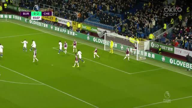 0:3. Пулишич забивает свой третий гол в ворота «Бёрнли»