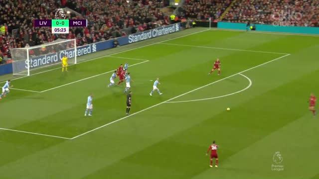 1:0. Фабиньо («Ливерпуль») открывает счет дальним ударом