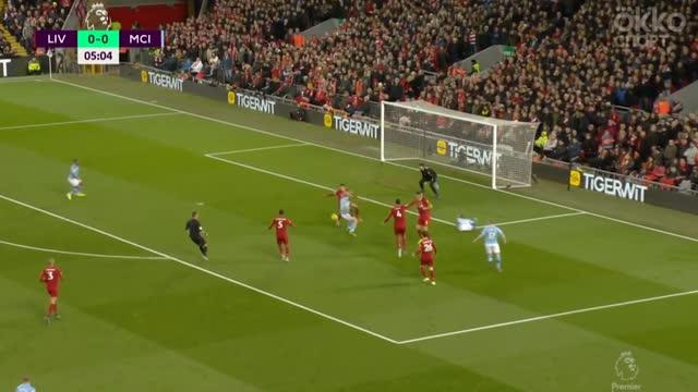 Мяч попадает в руку Александра-Арнольда в штрафной «Ливерпуля»