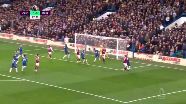 «Бернли» забивает, но гол не засчитан из-за офсайда