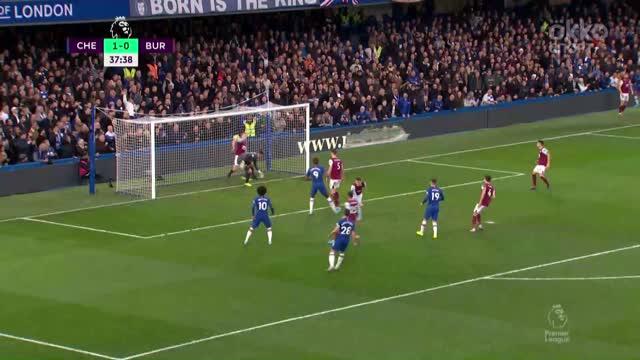 2:0. Абрахам («Челси») головой замкнул подачу Джеймса с фланга
