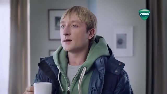 Плющенко и Рудковская снялись в рекламе средства от простуды