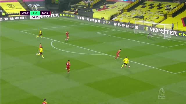 2:1. Уэлбек («Уотфорд») забил шикарным ударом через себя!