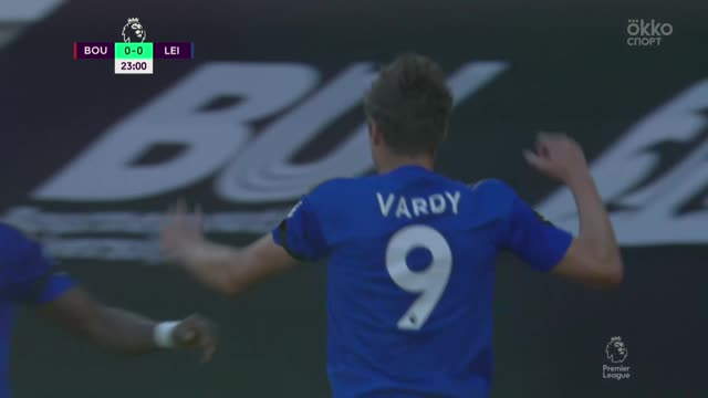 0:1. Варди («Лестер») забивает свой очередной гол в АПЛ!