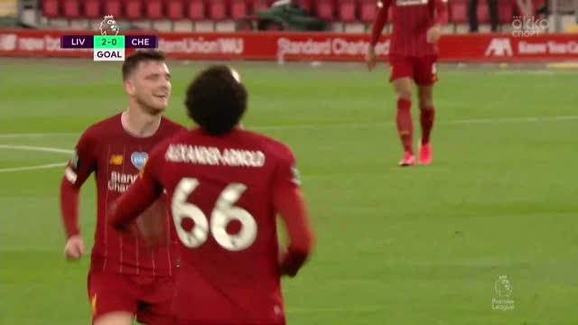 2:0. Трент («Ливерпуль») идеально исполнил штрафной удар