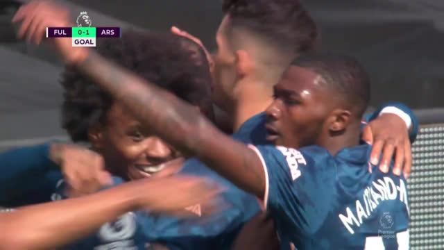 0:1. Ляказетт («Арсенал») забивает первый гол нового сезона АПЛ