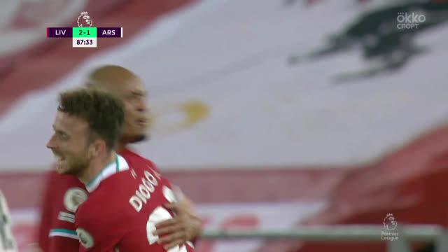 3:1. Диогу Жота («Ливерпуль») забивает дебютный гол за «красных»