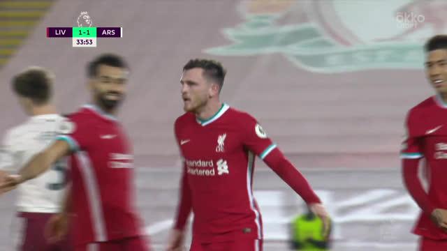 2:1. Робертсон («Ливерпуль») исправился за свою ошибку