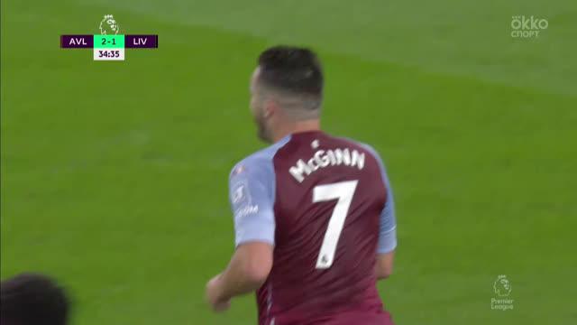 3:1. Макгинн («Астон Вилла») забивает при помощи рикошета