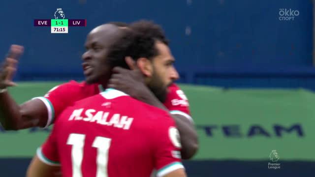 1:2. Салах («Ливерпуль») быстро отреагировал на отскок