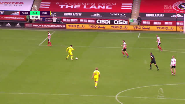 0:1. Лукман («Фулхэм») забивает, пройдя через двух защитников