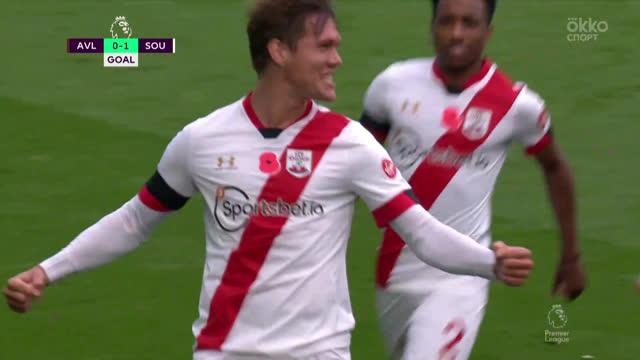 0:1. Вестергор («Саутгемптон») открывает счет в матче
