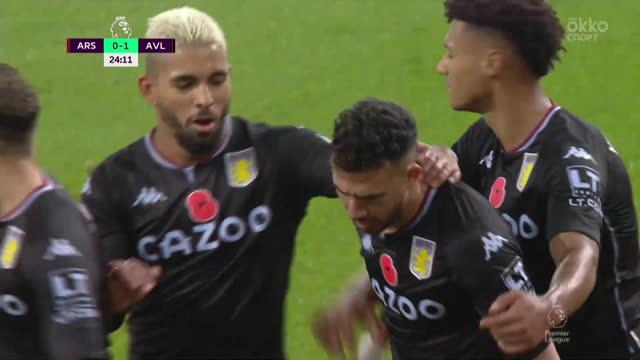 0:1. Сака («Арсенал») срезает мяч в свои ворота после прострела