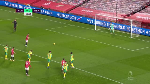 1:0. Бруну («Ман Юнайтед») со второй попытки реализует пенальти