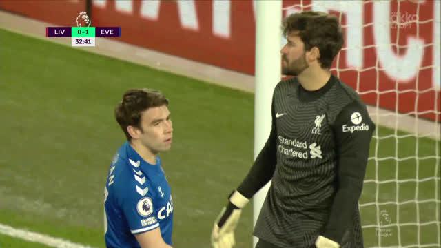 Алисон спасает «Ливерпуль» после удара Коулмана в упор!