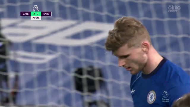 Вернер («Челси») в очередном матче упускает отличный момент!