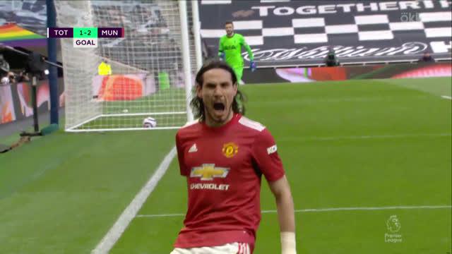 1:2. Кавани («Ман Юнайтед») забивает красивый гол «рыбкой»!