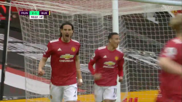 3:1. Кавани («Ман Юнайтед») завершает красивую комбинацию