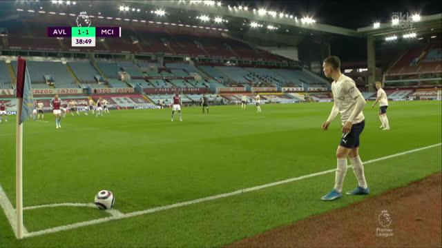 1:2. Эрнандес («Манчестер Сити») забивает головой с навеса Силвы