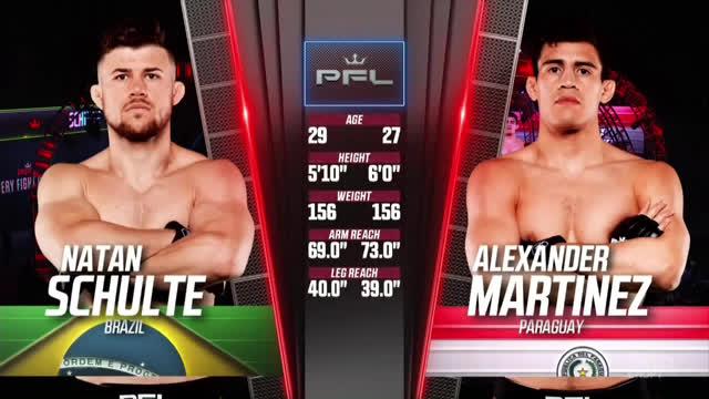 PFL 4. Натан Шульте vs Александр Мартинес