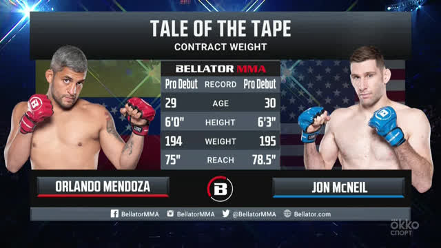 Bellator264. Джонатан МакНил vs Орландо Мендоcа
