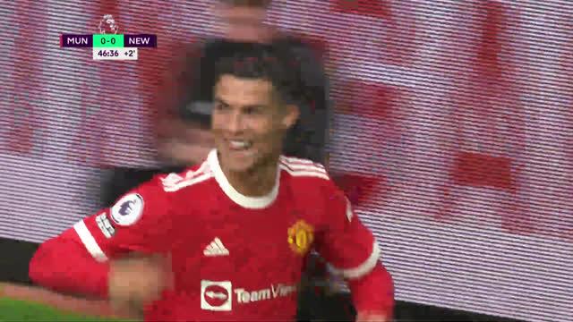 1:0. Роналду («Ман Юнайтед») забивает после ошибки Вудмана!