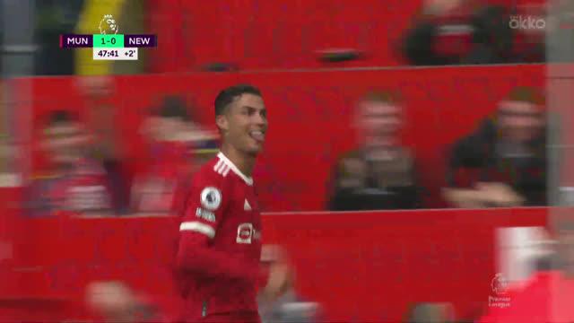 Дубль Роналду помог «Ман Юнайтед» разгромить «Ньюкасл»