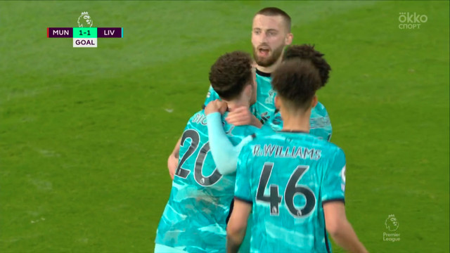 1:1. Жота («Ливерпуль») пяткой переправил мяч в ворота!