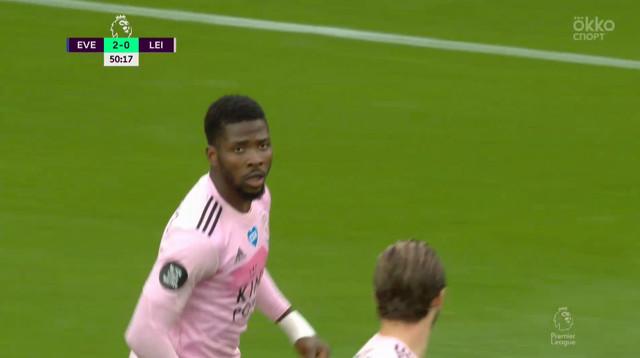 2:1. Келечи Ихеаначо («Лестер») забивает первый гол команды