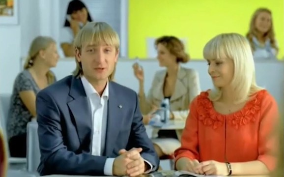 Евгений Плющенко в рекламе известной марки косметики