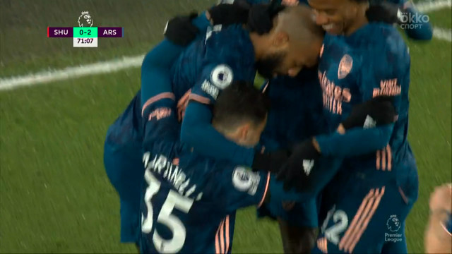 0:2. Мартинелли («Арсенал») удваивает преимущество «канониров»
