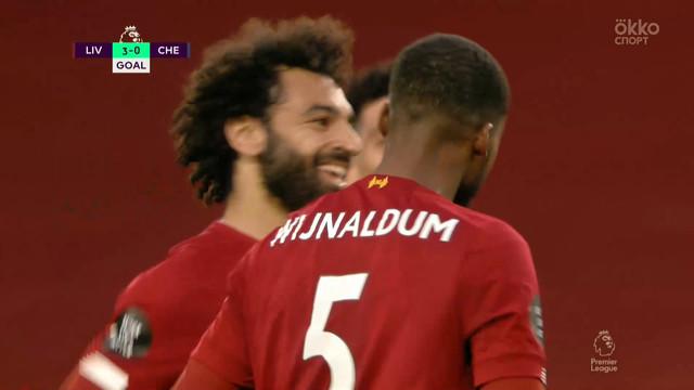 3:0. Вейналдум («Ливерпуль») доводит счет до разгромного