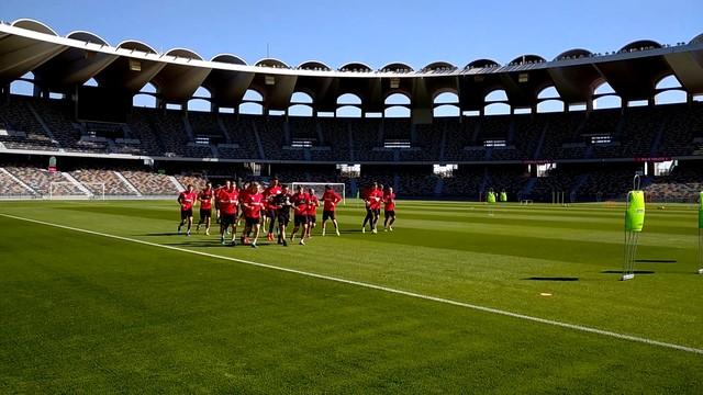Первая тренировка «Спартака» в 2020 году