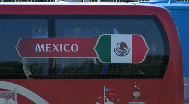 Сборная Мексики провела тренировку перед матчем с Германией