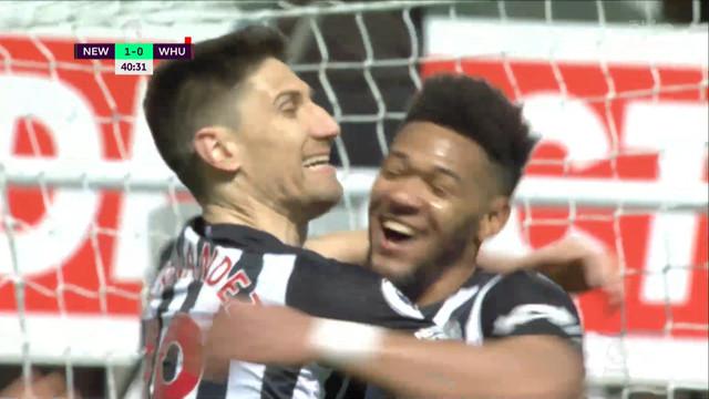 «Ньюкасл» в результативном матче вырвал победу у «Вест Хэма»