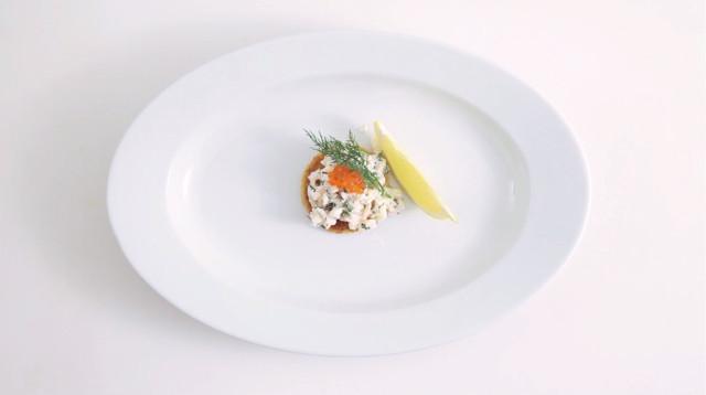 Тост «Скаген» с креветками