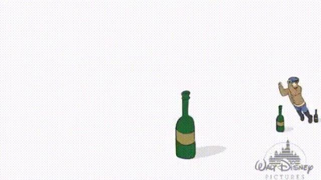 Гифка на бутылку сел